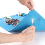 New BSET S-180A1 550x350mm Anti-static Mat Heat Insulation Soldering Mobile Phone Repair Pad Work Table with Magnetic Parts Adsorption
