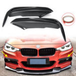 New Carbon Fiber Racing Front Splitters Lip Fit Car Spoiler Wing Bumper Protector For BMW 3 Series F30 M Sport Sedan 2013-2017