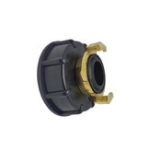 "New S60x6 IBC Faucet Tank Coarse Thread Adapter 3/4"" Outlet with Fixing Connector Replacement Valve Fitting Parts for Home Garden"