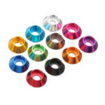 New Suleve™ M4AN6 10Pcs M4 Cup Head Hex Screw Gasket Washer Nuts Aluminum Alloy Multicolor Optional