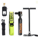 New SMACO 4 IN 1 Mini Scuba Diving Cylinder Oxygen Air Tank Diving Equipment w/ Hand Pump Valve
