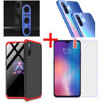 New Bakeey Hard PC Protective Case+Tempered Glass Screen Protector+Lens Protector For Xiaomi Mi 9 / Mi 9 Transparent Edition