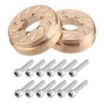 New 2PCS Brass Internal Wheel Weights 75g/pc for 1/10 SCX10 RC Crawler 1.9″/2.2″ Wheel Rims Car Parts