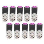 New 10Pcs BNC Male Connector Audio Video Q9 Joint 2 Bit Twisted Wire Press Joint Jack Connector