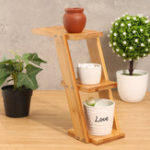 New Flower Pot Plant Stand Rack Bamboo Shelf Garden Indoor Outdoor Patio Decorations