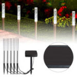 New 5 in 1 Solar LED Acrylic Bubble Lawn Lamp Set Waterproof Garden Lawn Landscape White Light Decor
