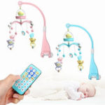New Baby Crib Mobile Bed Bell Hanging Holder Music Box Night Light Newborn Toys Gift