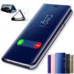 New Bakeey Plating Mirror Window Shockproof Flip Full Cover Protective Case for Xiaomi Redmi 7A 5.45 inch