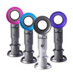 New LyRay Mini Handheld Bladeless USB Charging Fan Detachable Base Portable Ventilator