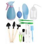 New 14Pcs Shovel Rake Spade Wood Handle Metal Head Tool Garden Watering Tools Kit
