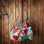New Women Ethnic Canvas Patchwork Crossbody Bag