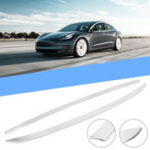 New Stainless Rear Upper Trunk Lid Trim Car Moulding Strip Cover For Tesla Model 3 2018 2019