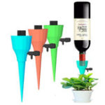 New 1/2/4/6/8/10/12Pcs New Upgrade Thickened Self Drip Irrigation Automatic Plant Watering Devices Self Watering Spikes with Slow Release Control Valve Switch Fit On All Bottles