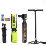 New SMACO 0.5L Diving Mini Scuba Cylinder Oxygen Tank Underwater Breath Valve Hand Pump Bag Set