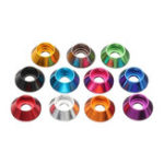 New Suleve™ M6AN1 10Pcs M6 Cup Head Hex Screw Gasket Washer Nuts Aluminum Alloy Multicolor