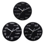 New 20cm Math Round Wooden Wall Clock Modern Home Living Room Kitchen Watch Decor