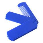 New 2 In 1 Foldable Mirror Comb Plastic Beard Hair Brush
