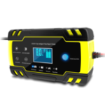 New Enusic 12/24V 8A Touch Pulse Repair LCD Battery Charger For Car Motorcycle Lead Acid Battery Agm Gel Wet