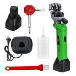 New 200W 220V Rechargeable Cordless Electric Shear Shearing Clipper Scissors Animal Sheep Goat