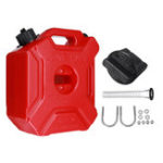 New 5L Fuel Tank Portable Jerry Can Gas Petrol With Bracket Lock For ATV UTV Motorcycle Car Gokart