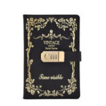 New A5 Size Vintage Lock Notebook PU Leather Password Notebook with Combination Lock Refillable Student Diary Book