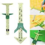 New 5 In 1 Sliding Gauge Measuring Sewing Tool Caliper Multi-Function Quilting Craft Tool