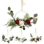 New 15.7 Inches Artificial Flowers Wreaths Door Perfect Artificial Garland for Wedding Deco Supplies Home Party Decor