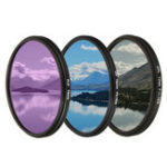 New Camera Lens Filter Kit Set UV CPL FLD 3 In 1 Bag for Canon for Other Digital 1