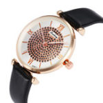 New Deffrun Roman Number Crystal Elegant Design Ladies Watch