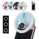 New USB Selfie LED Light Ring Dimmable Lamp Flash Fill Clip Camera for Smartphone