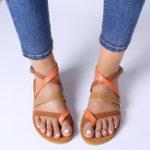 New Lostisy Women Casual Cross Strap Sandals