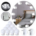 New 10PCS Hollywood Style Pure White LED Vanity Mirror Light Bulb Kit With Dimmer Controller for Makeup Dressing