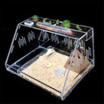 New Reptile Insect Spider Acrylic Cage Transparent Breeding Display Box Vivarium Lid Breeding Tank with Lock