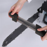 New Black 2 in 1 Easy Chainsaw Chain Sharpener Metal File Fast Chain Saw Sharpener 4.0mm