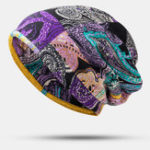 New Women Ethnic Style Cap Printed Adjustable Beanie Hat
