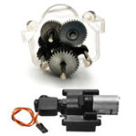 New WPL 1Set Original Metal Gears With Speed Change Gear Box For B1 B24 B16 B36 C24 1/16 4WD 6WD Rc Car Parts