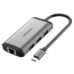 New Vention CNCHB Type-C to HDMI+RJ45+USB3.0*3+PD Converter Type-C Multifunction Adapter Hub