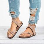 New Women Roman Brief  Buckle Clip Toe Sandals