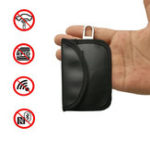 New Car Key Signal Blocker Case Faraday Cage Fob Pouch Keyless PU leather Bag 10.5 X 6.5CM