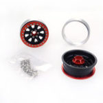 New 2PCS ZD Racing 2.2 inch Alloy Wheel Rim Hub Aluminum Beadlock for 1/10 RC Car Crawler Axial SCX10