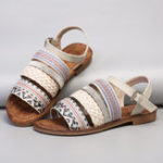 New Lostisy Women Bohemia Weave Stitching Sandals