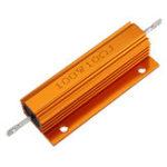 New 10pcs RX24 100W 10R 10RJ Metal Aluminum Case High Power Resistor Golden Metal Shell Case Heatsink Resistance Resistor