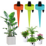 New 6Pcs/12Pcs Self Drip Irrigation Automatic Plant Watering Devices Self Watering Spikes with Slow Release Control Valve Switch Fit On All Bottles