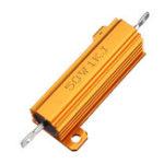 New 3pcs RX24 50W 1KR 1KRJ Metal Aluminum Case High Power Resistor Golden Metal Shell Case Heatsink Resistance Resistor