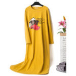 New Cotton Long Sleeve Nightgown
