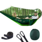 New Outdoor Automatic Quick Open Portable Camping Hammock with Mosquito Double Parachute Hammocks Swing Sleeping Hammock Bed with Net Tent