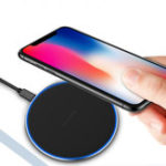 New FONKEN S180 Universal Qi Wireless Charger 5W 7.5W 10W Fast Charge Ultra Thin Wireless charging Pad for Mobile Phone