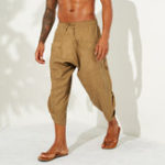New Mens Summer Solid Color Casual Corduroy Pants