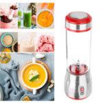 New 500ml 6 Blade Mini Portable USB Electric Fruit Juicer Blending Machine Juice Maker Juice Shaker