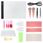 New 90Pcs LED Light Pad Board Stand Holder DIY Diamond Embroidery Painting Tools Kit
